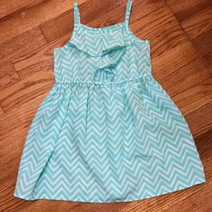 Cherokee Girls Size 3T Blue/Green Chevron Dress